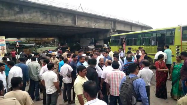 National Highway 66 Horata Samithi Protest For Completion Of Kundapur Flyover