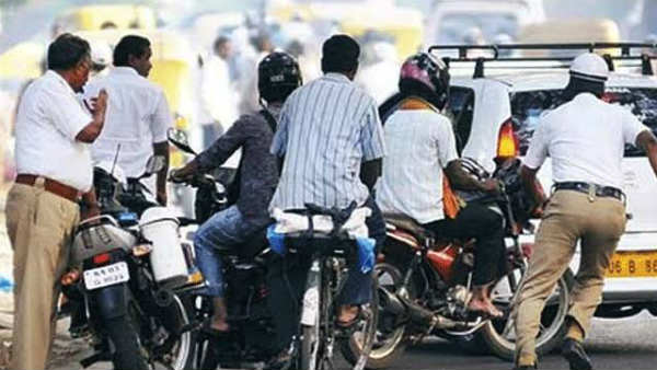 71 Violations Traffic Police Fined Rs 15400 For Man