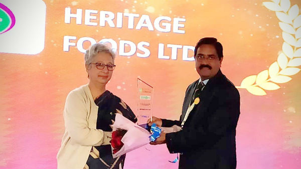Heritage Foods bags awards at the India Food Safety Summit Awards 2019 in Delhi