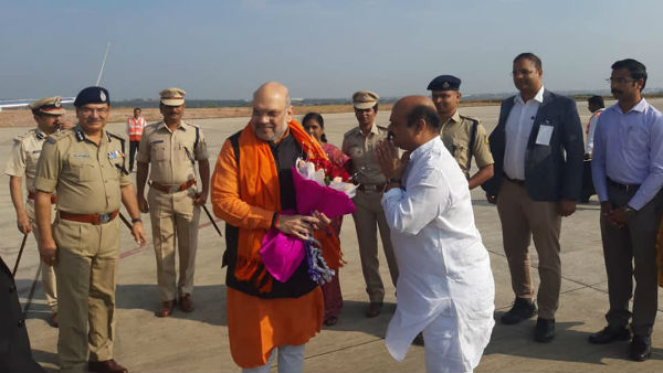 Amit Shah Return To Delhi From Hubballi