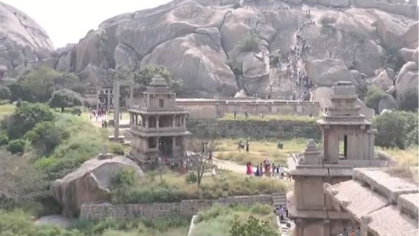 People Visited Chitradurga Fort In Large Number For New Year Celebration