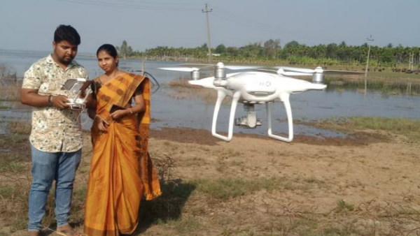 Sulekere Survey Started With Drone In Davanagere
