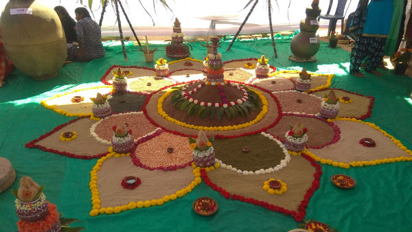 Attraction To The People Of Flower Show In Ramanagara
