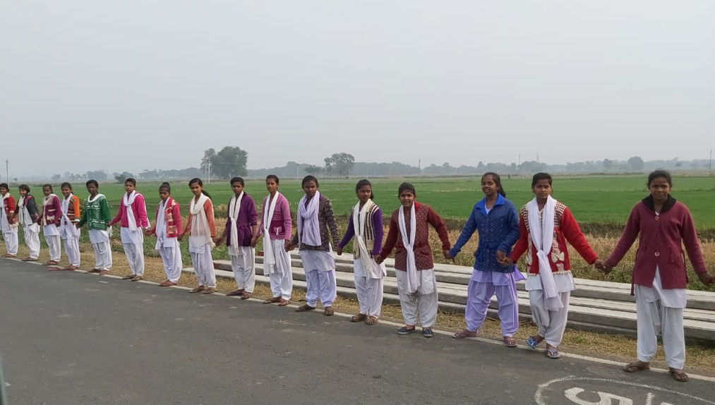 Bihar More than 5 Crore People Formed Human Chain And Set A World Record