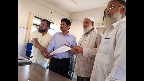 The Muslim Community Against The Honnali MLA Renukacharya