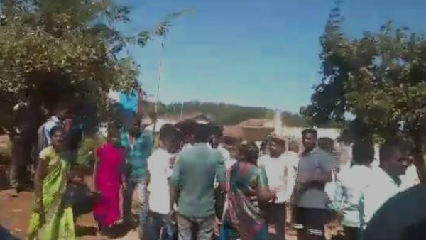 Quarrel Infront Of Grama Panchayat Office In Kaduru