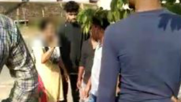 Women Slaps A Man For Distributing Brochure Suspecting Her Character In Chikkamagaluru