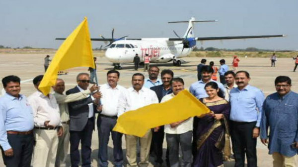 Flight Between Mysuru Belagavi Starts Today From Mandakalli Airport