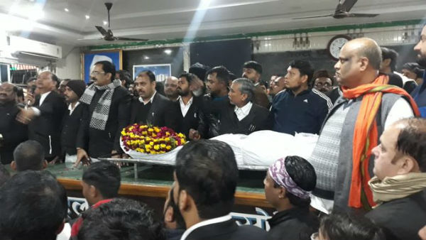 Lawyer Murdered In Lucknow, Colleagues Protest In Court Hall With His Dead Body