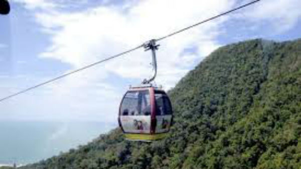 Cable Car Connection Between Kollur And Kodachadri