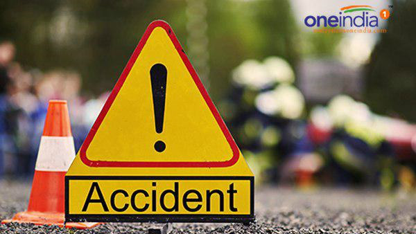 Car Collided With Bike In Nelamangala