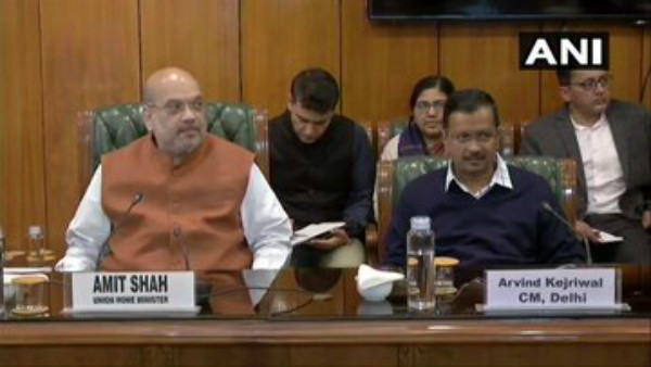 Amit Shah Is Chairing A Meeting With Delhi CM Arvind Kejriwal
