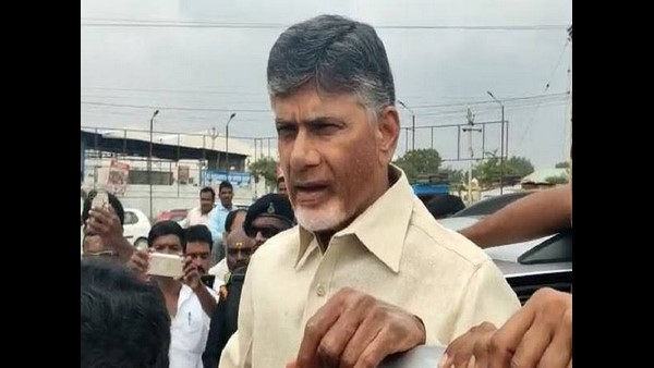 Chandrababu Naidu Attacked With Footwear In Visakhapatnam