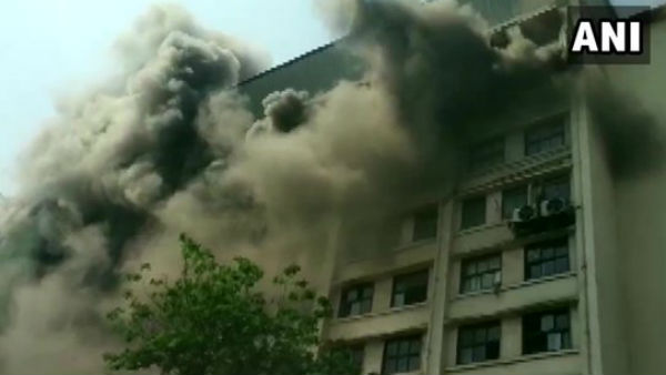 Fire Has Broken Out In GST Bhavan