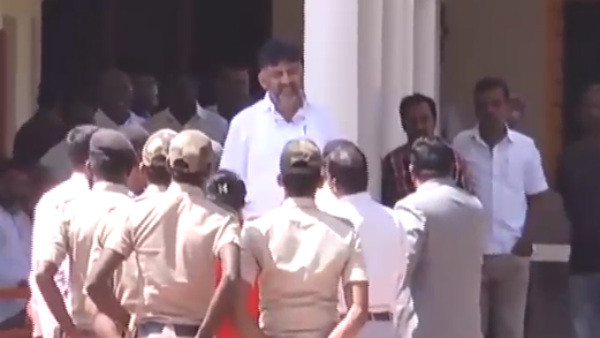 Police Security To DK Shivakumar Home On Behalf Of ED Inquiry