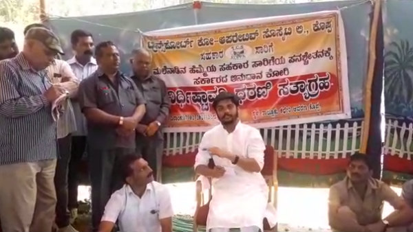 Vinay Guruji Supports Cooperative Transport Workers protest