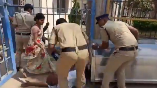 Telangana Police Inspector Kicks Man Over His Daughter Death