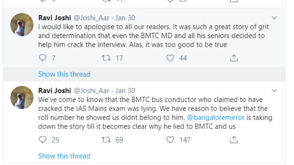 BMTC Conductor Fake News Sparks Inspiration For Many