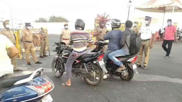 Chennai Police Corona Helmet Is Quite Scary But Helps In Raising Awareness