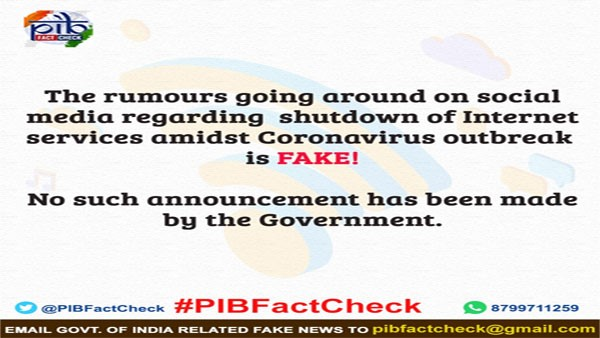 Fact Check: Government Has Not Ordered To Shut Down Internet In India