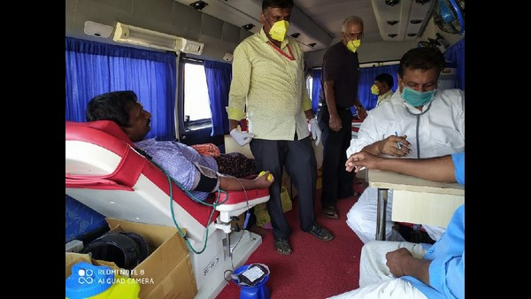 Lack Down Blood Donation Camp Held In Mangote