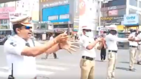 Viral Video Rachakonda Police Promoting Washing Of Hands