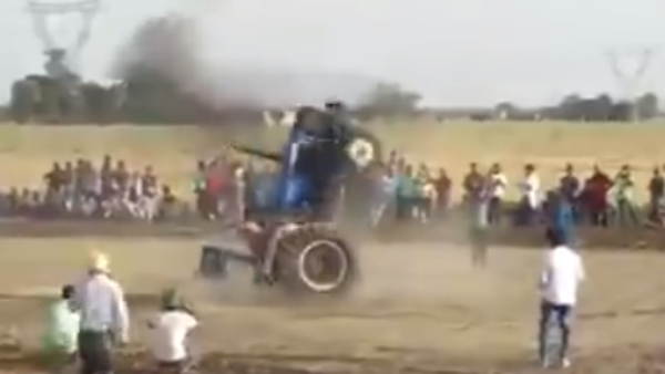 Viral Video A Punjab Tractor Driver Driving Tractor Looks Like Warcraft