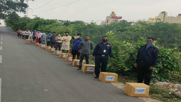 Bangalore Lockdown: AIFO Team Distribute Food Kits For 893 Migrant Workers Family