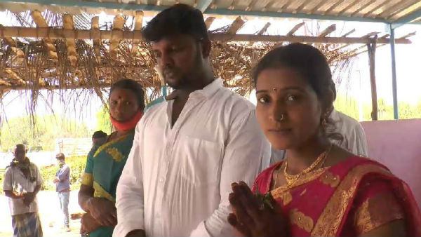 Couple Married In Karnataka Tamilnadu Border Punajanuru Checkpost