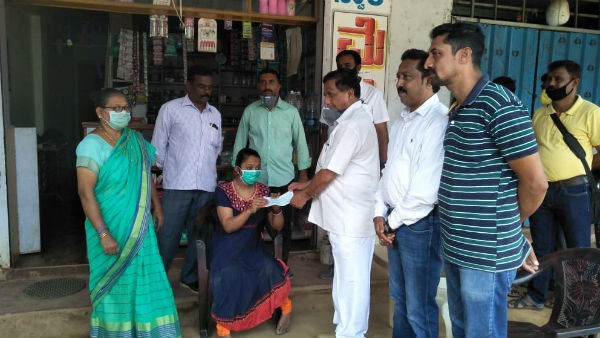Young Woman Donated To CM Relief Fund In Madikeri