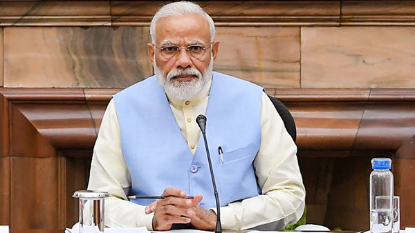 Prime Minister Narendra Modi Discuss With CMs From Video Conference
