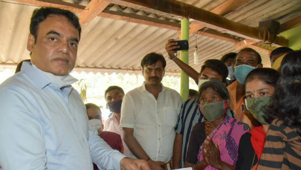 DCM Ashwath Narayan Gave Relief To The Family Of Died Journalist In Ramanagara