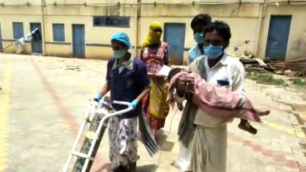 No Stretcher Supply To Patient From Hubballi KIMS Hospital