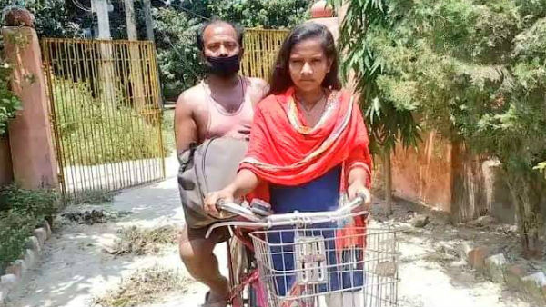 Cycling Federation of India Called Jyoti, who cycled 1200 km carrying her father
