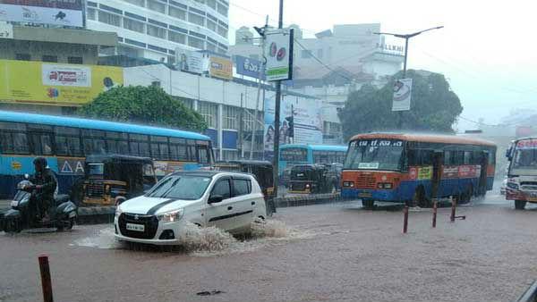 ಪಣಂಬೂರು, ಮಂಗಳೂರು ಸೇರಿದಂತೆ ರಾಜ್ಯದ ಹಲವೆಡೆ ಭಾರಿ ಮಳೆ