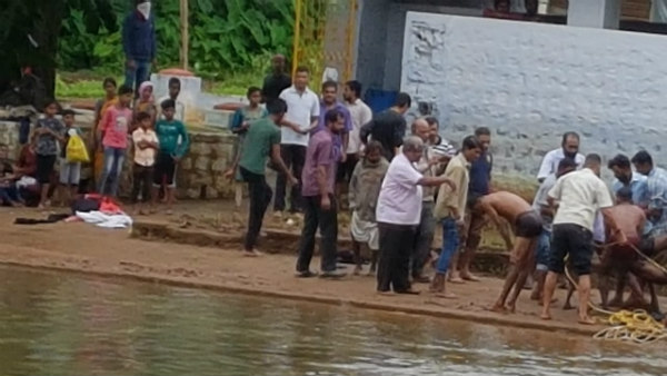 Person Drowned In Triveni Sangam At Madikeri