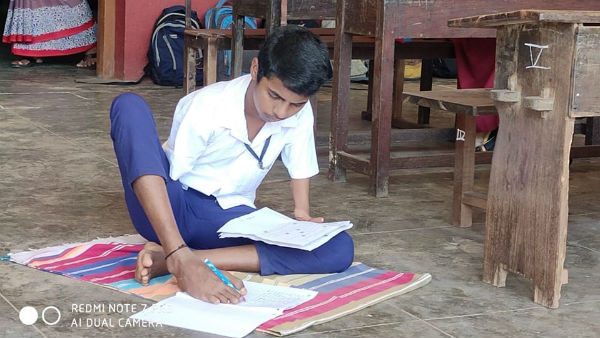 Bhatkal Student Wrote SSLC Exam With His Legs
