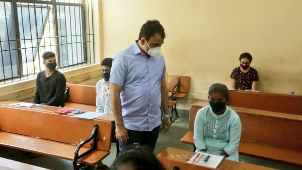 DCM ashwath narayan visited to MES and Seshadripuram colleges and reviewed preparation for CET Exam