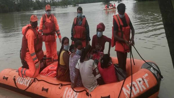 Assam: NDRF Carry Out Rescue Operation In Flood-Affected Areas