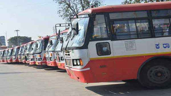 KSRTC Buses Stopped To Lock down Districts From Mysuru