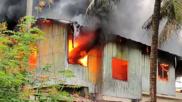 Fire Broke Out At Karkala Box Preparing Unit At Udupi