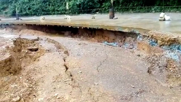 Hosanagara Kolluru Road Damaged Due To Heavy Rain In Shivamogga