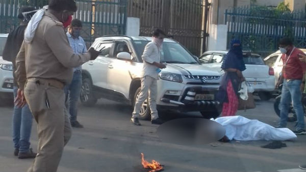 Woman And Her Daughter Attempted Self Immolation Bid In Front Of Lok Bhawan In Lucknow