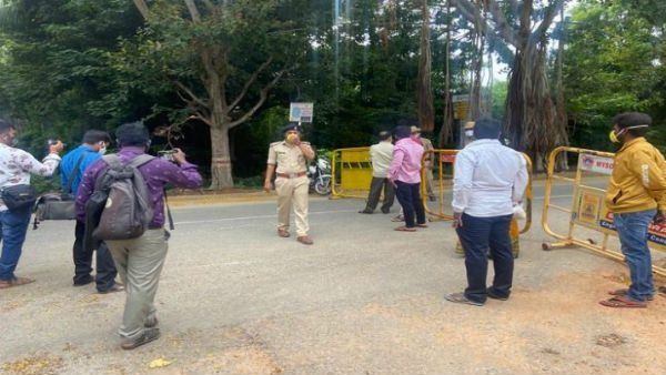 Denied Entry For Media Persons In Chamundi Hills At Mysuru