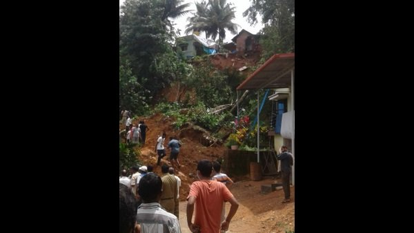 Due To The Heavy Rain: Landslide Near Kaikamba, Two Houses Destroyed