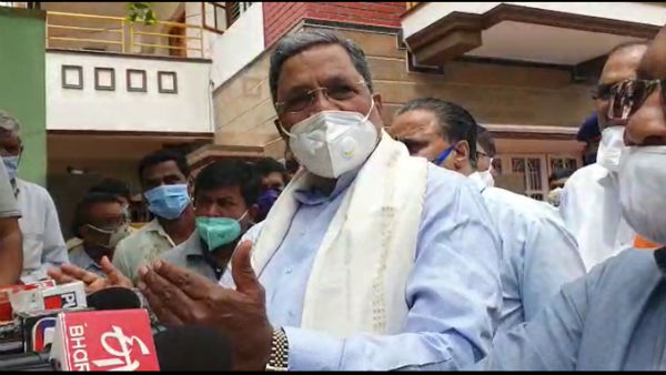 Siddaramaiah hospitalized at Bangalore yesterday night