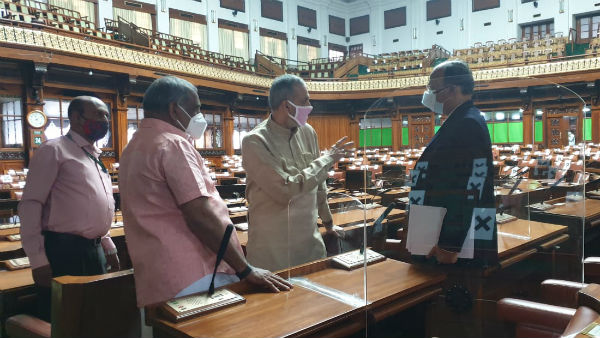 Speaker Kageri has decided to conduct the assembly in the vidhanasoudha
