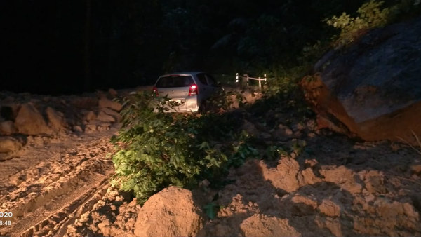 Rain Continues In Chikkamagaluru And Landslide In Charmadi Ghat