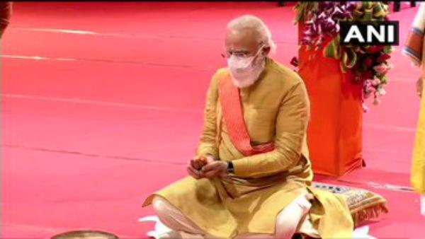 ಐತಿಹಾಸಿಕ ಭವ್ಯ ರಾಮಮಂದಿರಕ್ಕೆ ಮೋದಿಯಿಂದ ಭೂಮಿಪೂಜೆ