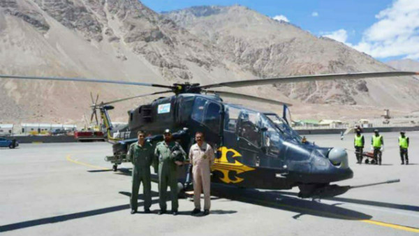 HAL's Indigenous LCH Deployed For Operations At Leh